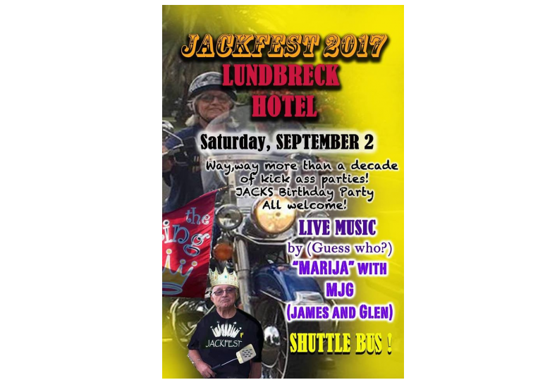 Jackfest Lundbreck Falls Saturday September 2